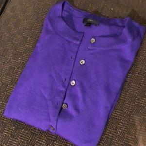 J. Crew. Purple Cardigan
